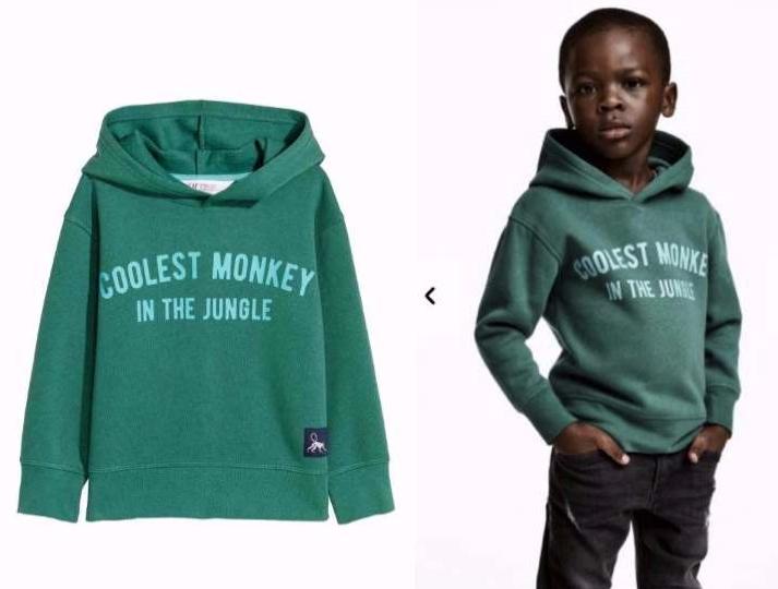 Add called racist: Black boy modeling Coolest Monkey Hoodie