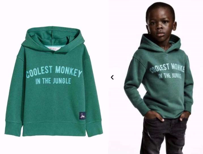 Add called racist: Black boy modeling Coolest Monkey Hoodie