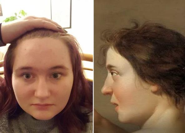 find your famous doppelganger portrait