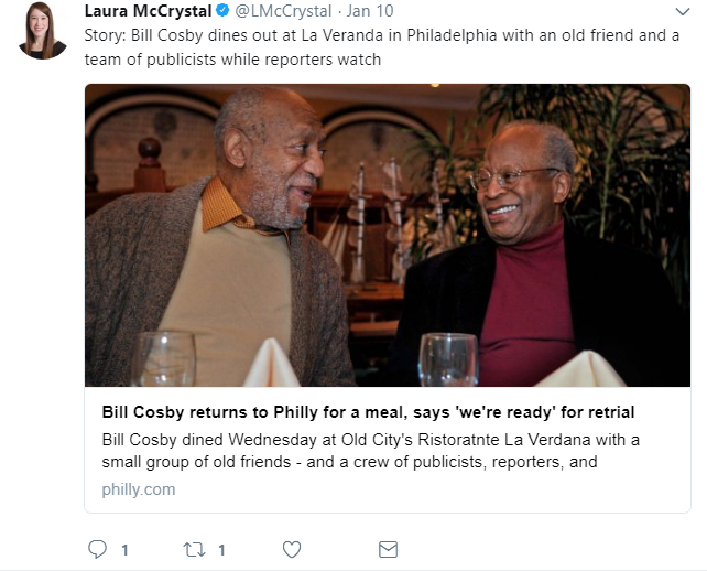Bill Cosby At Dinner With Friend