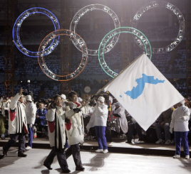 North and South Korea Marching Under Unified Flag for Olympics