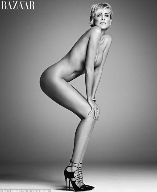 Sharon Stone Poses Naked in Magazine