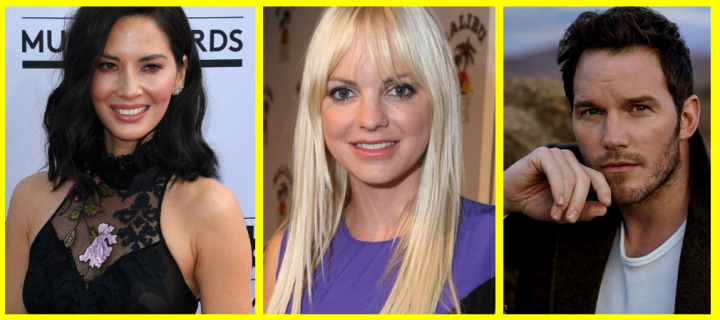 Olivia Munn, Anna Faris, and Chris Pratt