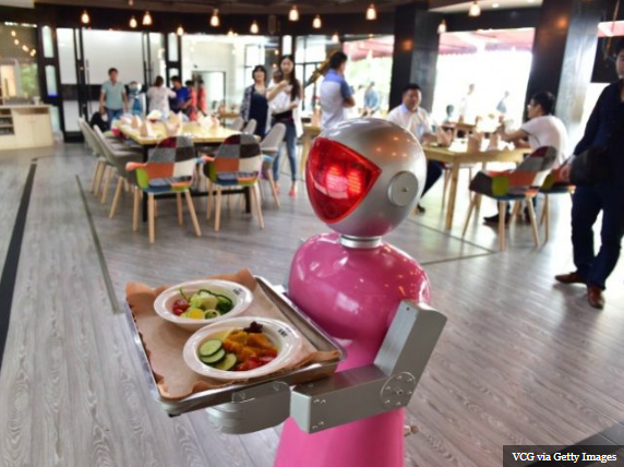robot waitress server