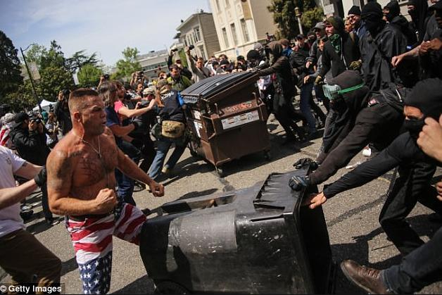 Antifa versus White Supremecists