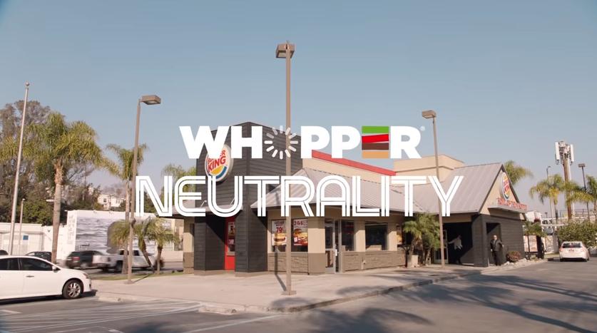 Burger King Add on Whopper Neutrality