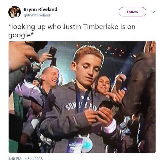 googling Justin Timberlake