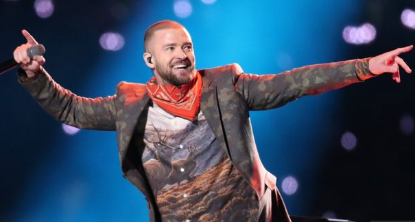 Justin Timberlake Performs Super Bowl Halftime
